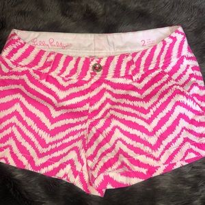 Lilly Pulitzer Walsh Shorts 2 Pink White